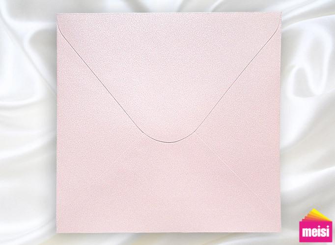 300-鑽銀珍珠粉邀卡信封-方