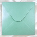 400-珠光海洋綠-方型喜帖信封