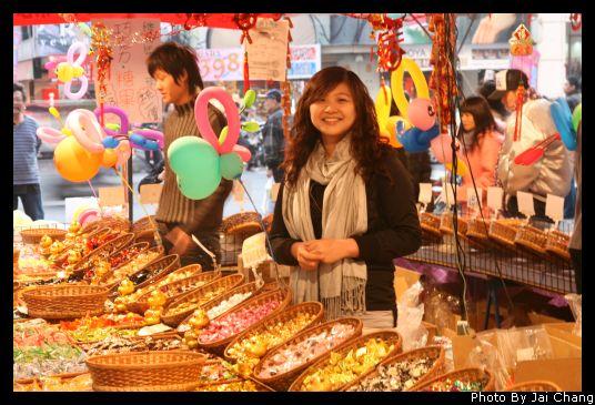 2009年台中年貨大街,繼光街照片