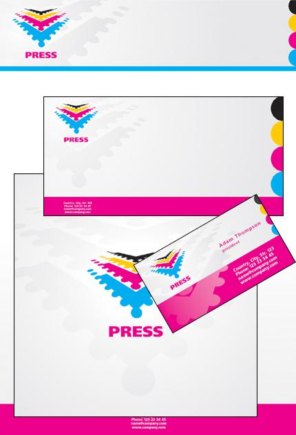 信封、信紙、名片設計範例