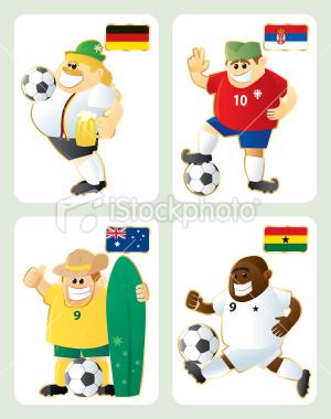 2010世界盃D組-卡通