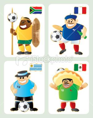 2010世界盃A組-特色插畫