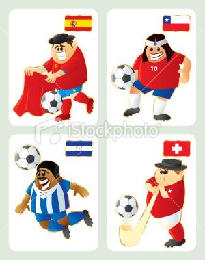 2010世界盃H組-特色插畫