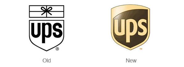 好的Logo重新設計案例-ups