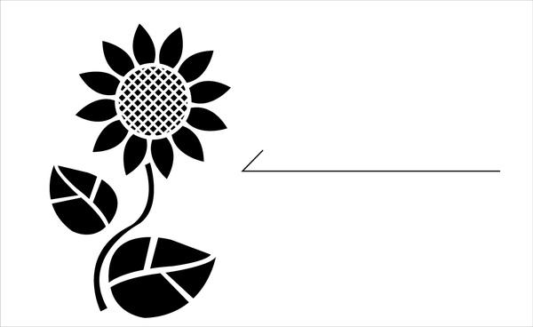 免費名片樣版-剪影風-園藝