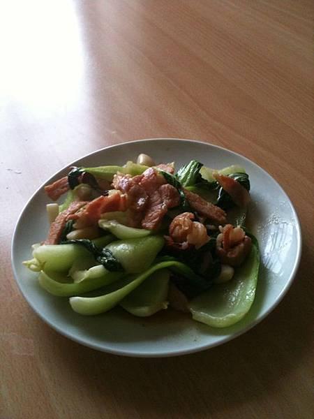 還有培根青江菜