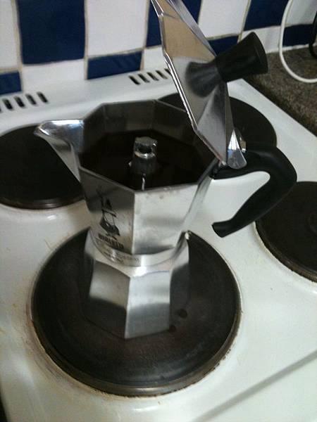 我買了MOKA壺泡咖啡
