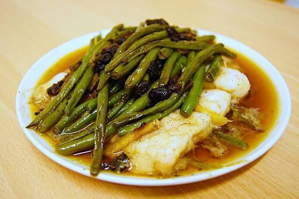 豆豉四季豆蒸魚