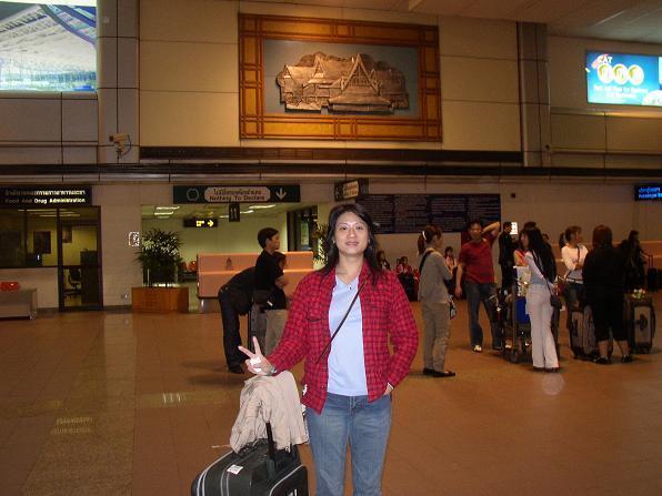 曼谷機場~已經快熱死了