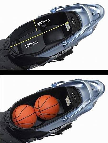 NEX GSR125  大容量置物箱 能放下2顆籃球