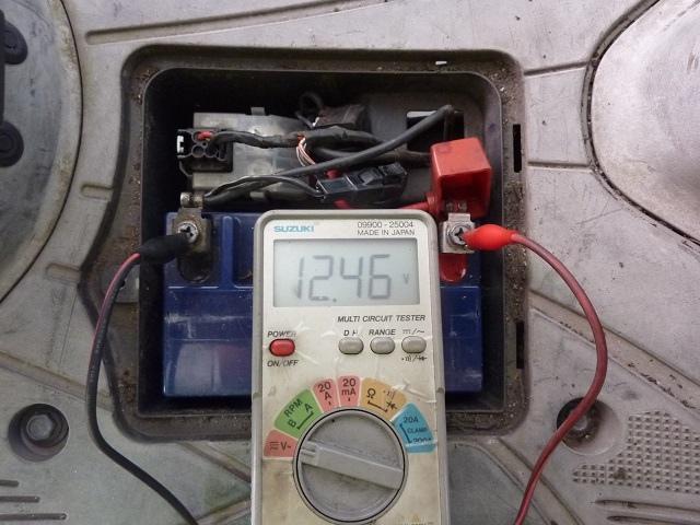 Address V125G 無法電動啟動 電瓶沒電