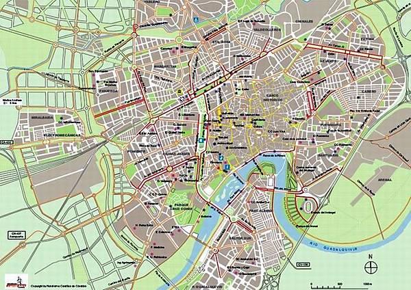 哥多華 單車路線圖