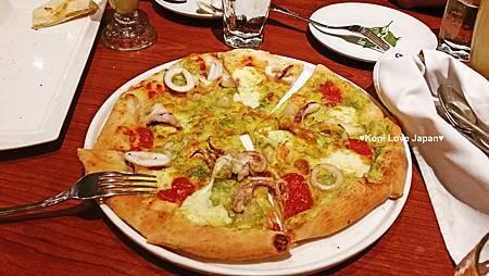 海鮮青醬比薩