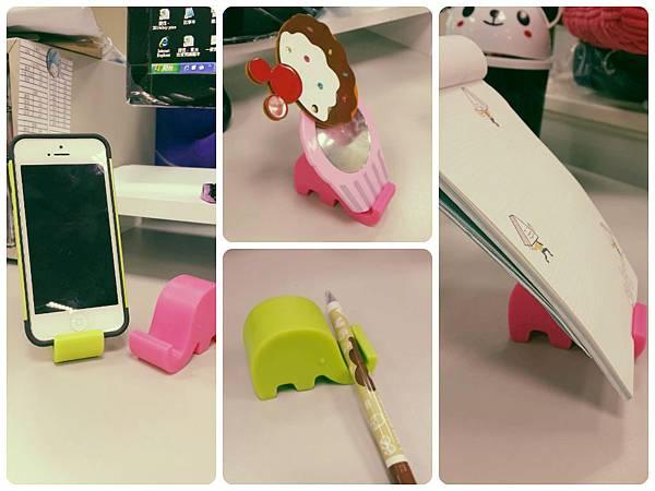 糖果色可愛大象手機支架