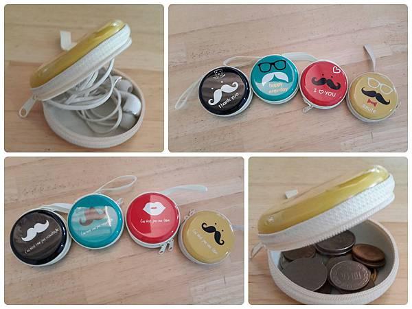 韓版可愛設計圓形硬殼零錢包