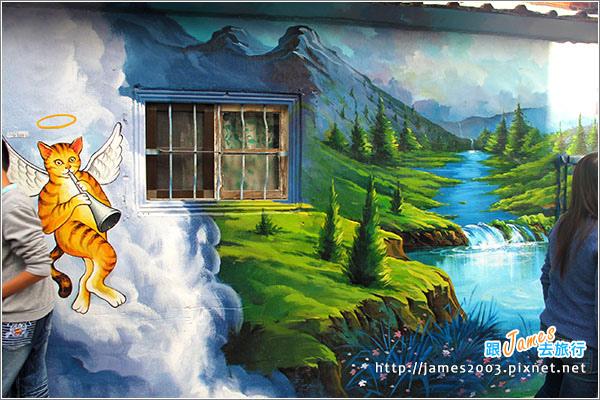 [雲林景點] 虎尾頂溪社區「屋頂上的貓」貓彩繪村05.JPG