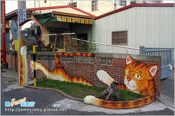 [雲林景點] 虎尾頂溪社區「屋頂上的貓」貓彩繪村14.JPG