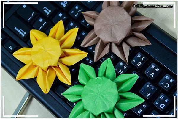 摺紙作品-向日葵