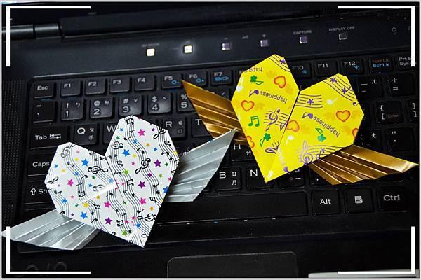 摺紙作品-飛心