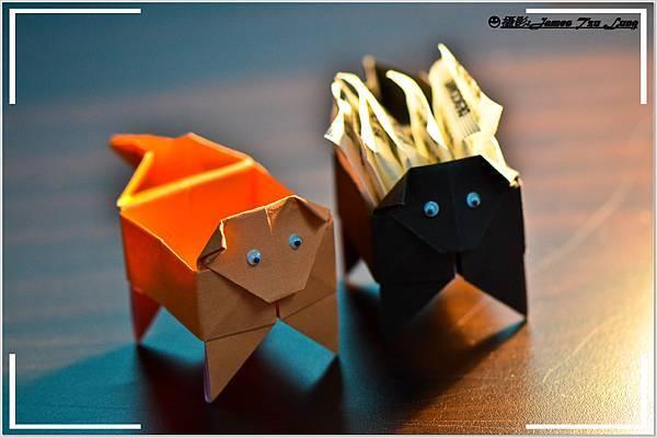 摺紙作品-小狗盒子
