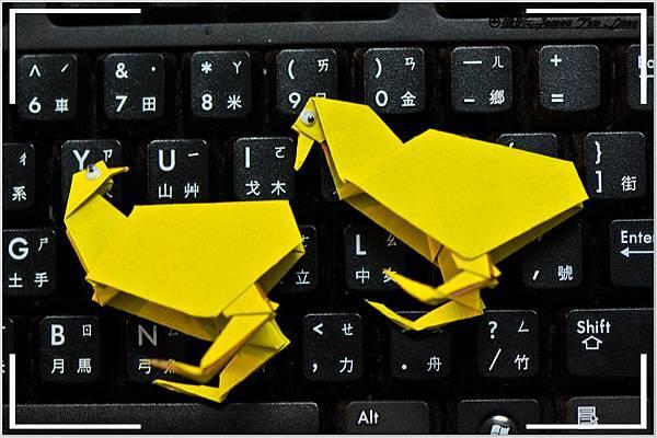 摺紙作品-小雞