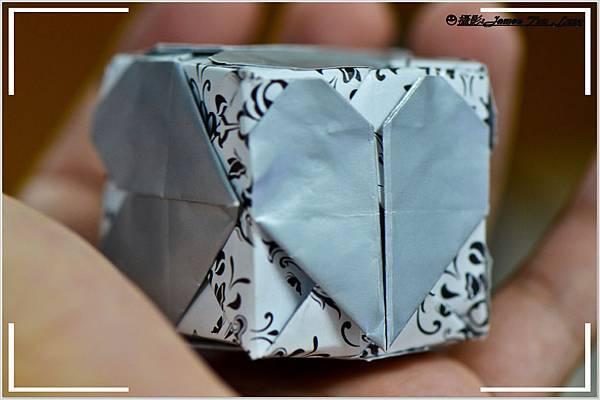 摺紙作品-心形方塊