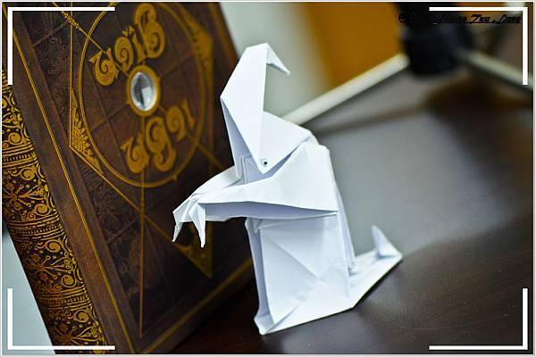 摺紙作品-西洋白幽靈