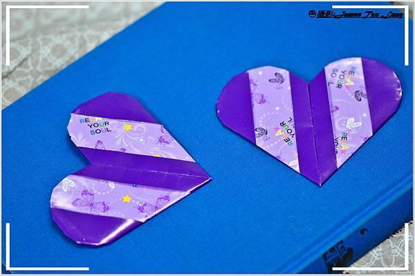 摺紙作品-彩帶心