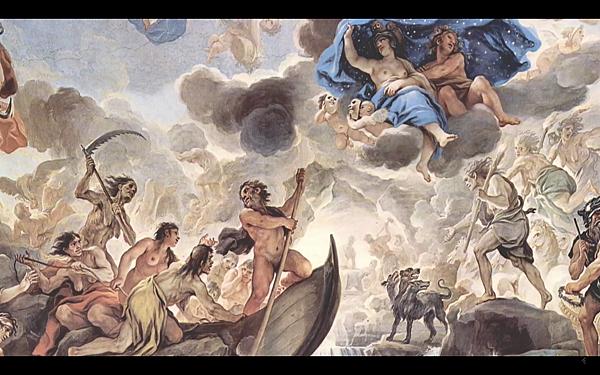 "盧卡.焦爾達諾(Luca Giordano)所繪的 ""人的創造""(The Creation of Man)"
