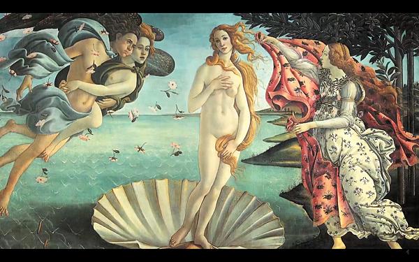 """桑德羅.波提切利(Sandro Botticelli)所繪的 """"維納斯"""" (Venus)"""