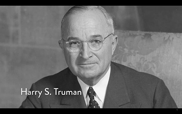 美國第33任總統(1945年-1953年)杜魯門(Harry S. Truman)