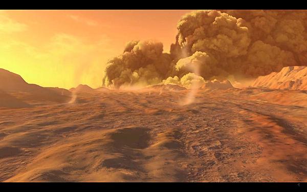 火星上的沙塵暴