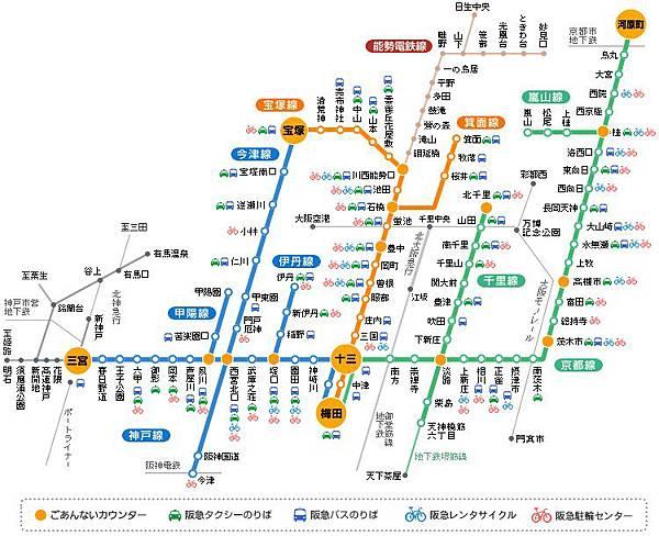 阪急路線圖