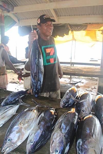 鮪魚是吉佐市場常見的魚