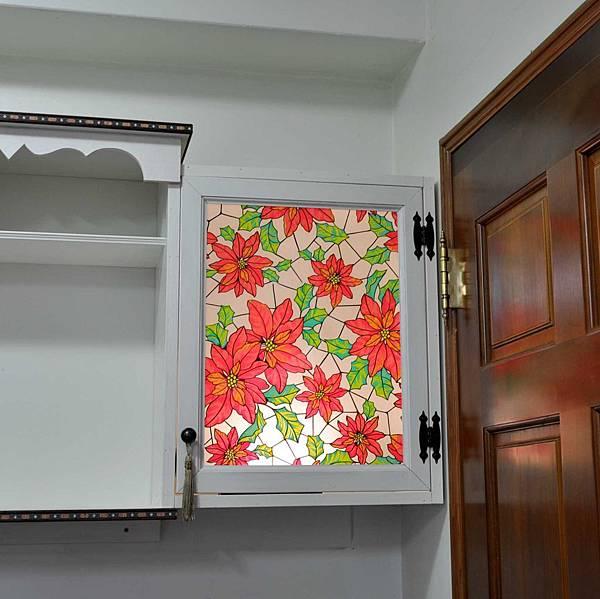 彩繪玻璃櫃 009