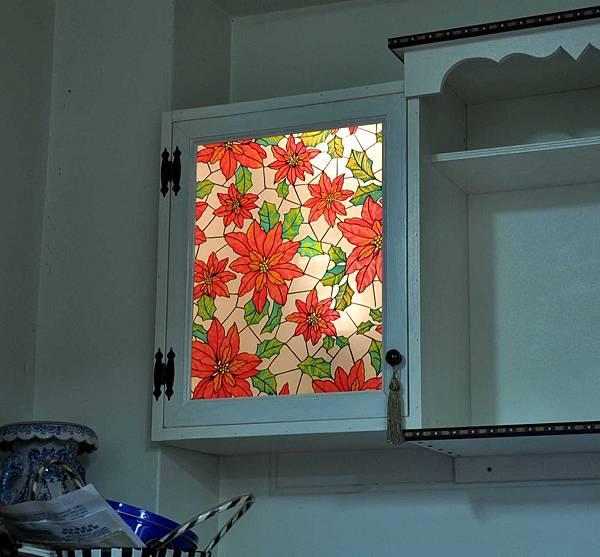 彩繪玻璃櫃 011
