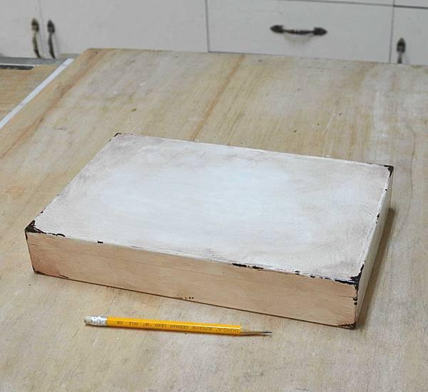 簡易拼貼木盒 004