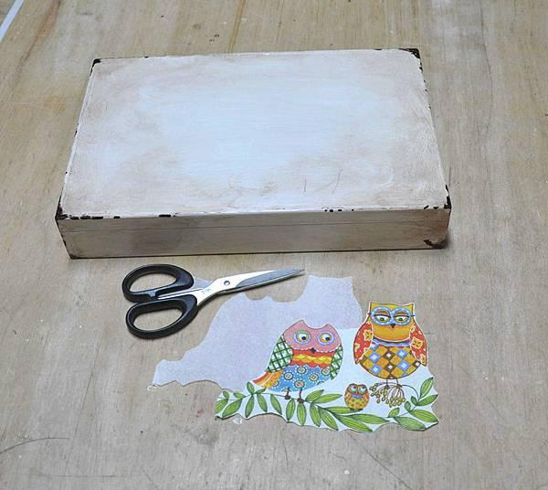 簡易拼貼木盒 005