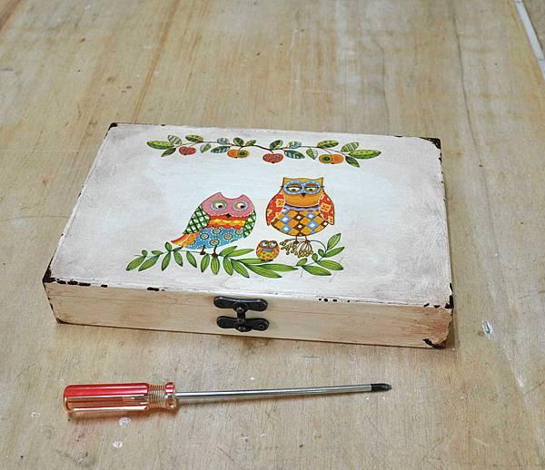 簡易拼貼木盒 010