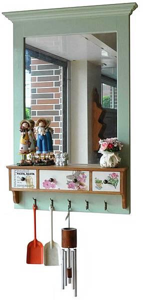 可愛鄉村風壁鏡