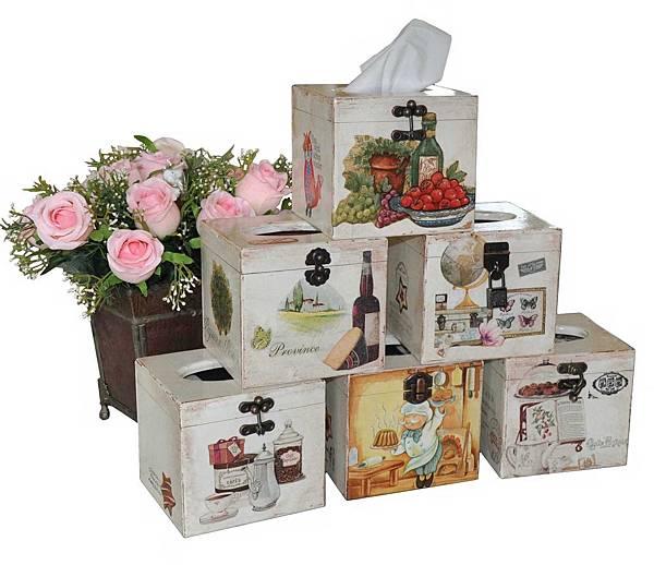 鄉村風餐巾紙盒 001