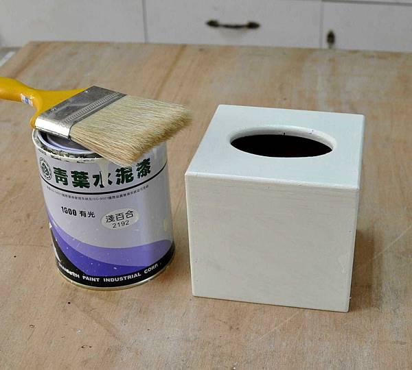 鄉村風餐巾紙盒 006