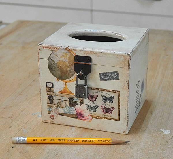 鄉村風餐巾紙盒 009