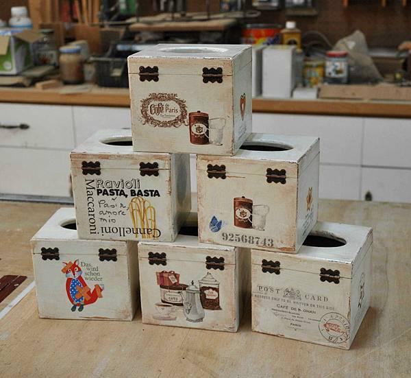 鄉村風餐巾紙盒 011