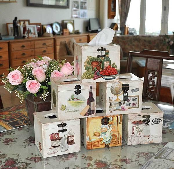 鄉村風餐巾紙盒 012