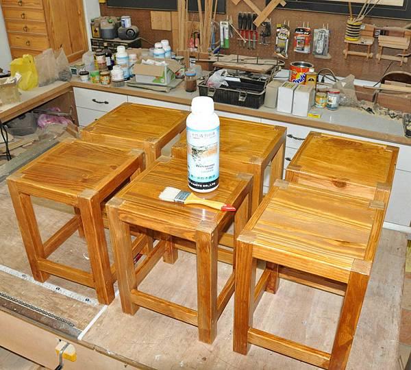 鄉村風板凳DIY 009