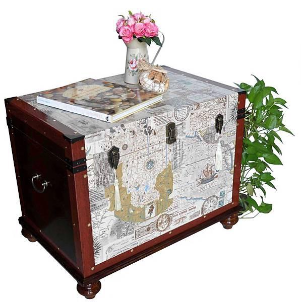 有著航海圖的藏寶箱 001