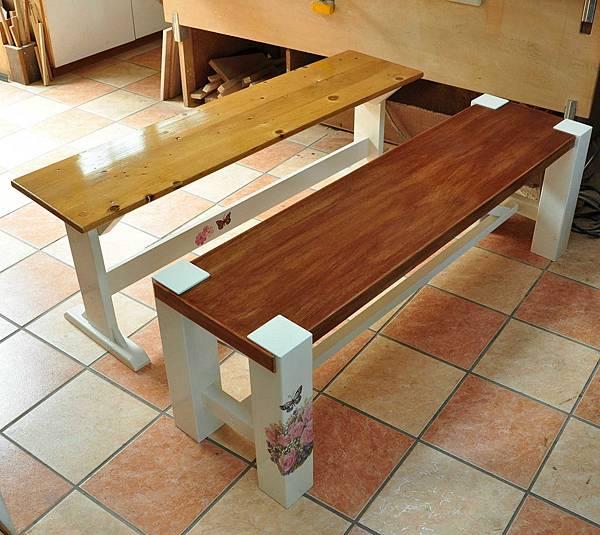 鄉村風長板凳 016