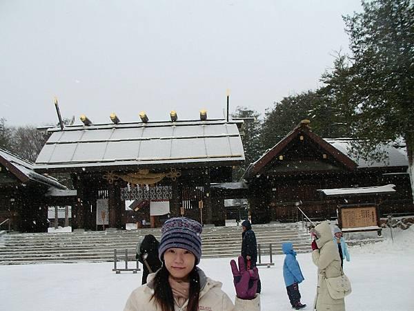 北海道神宮,粉準喔~