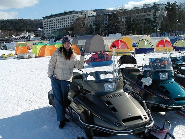阿寒湖冰上活動,冰上摩托車